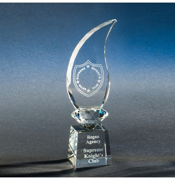 "CARE209 - 9"" Ardmore Flame Crystal Award"