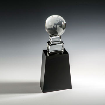 "CATW411 - 11"" Globe on Black Base Award"