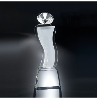 "CEA413 - 13"" Esmeralda Crystal Diamond Award"