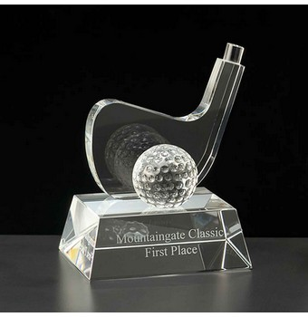 "CGN45 - 5"" Greensboro Crystal Golf Award"