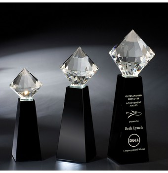 "FBT209 - 9"" Brilliant Crystal Diamond Award"