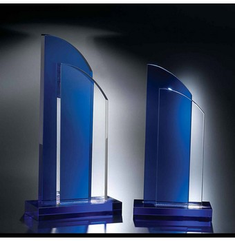 "SDT409 - 9 1/2"" Double Take Crystal Award"