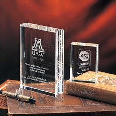 "4"" My Book Crystal Award"
