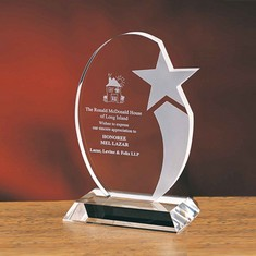 "7"" Oval Star Crystal Star Award"