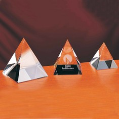 "3 3/4"" Pyramid Crystal Award"
