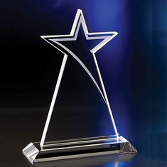 "10"" Crystal Shooting Star Award"