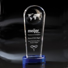 "11"" Atmosphere Globe Crystal Award"