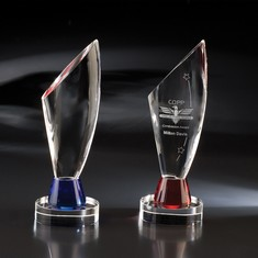 "11 1/4"" Red Euphoria Crystal Award"