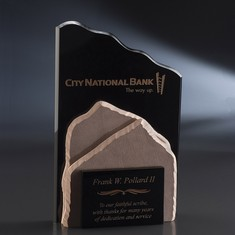 "11"" Distant Peak Crystal & Stone Award"