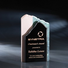 "9 1/2"" High Touch Modern Crystal & Stone Award"