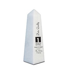 "10"" Obelisk Award - White"