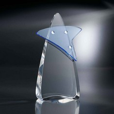 "8 1/2"" Pandamonium Crystal Star Award"