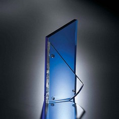 "7 3/4"" Palladium Crystal Award"