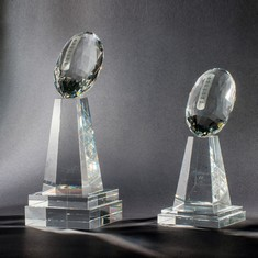 "10"" Football Championship Crystal Award"
