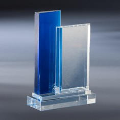 "10"" Blue Infinity Crystal Award"